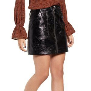 NWT Minkpink Coyote Faux Leather Miniskirt Sz S